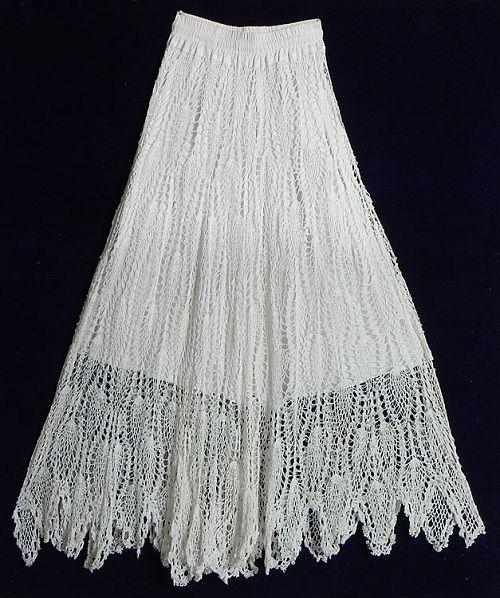 вязаная юбка со складками фото