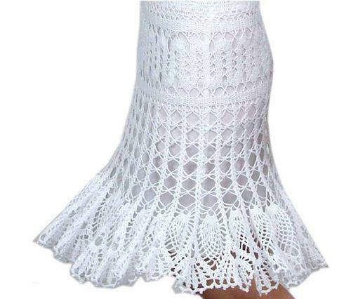 вязаная юбка-колокол фото