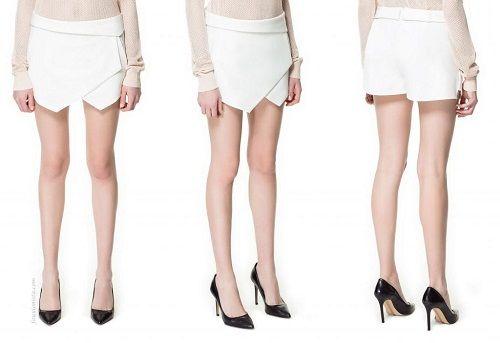 асимметричная юбка-шорты фото