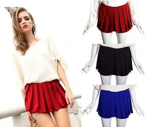 плиссированная юбка-шорты фото