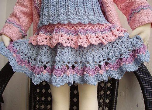 разноцветная юбка для девочки фото