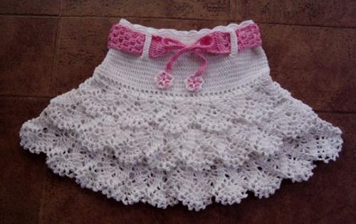 вязаная юбка для девочки фото