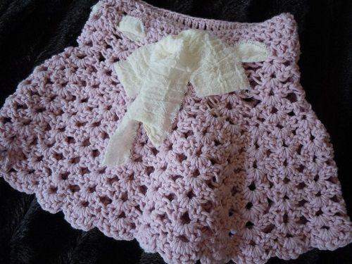 красивая юбка крючком фото