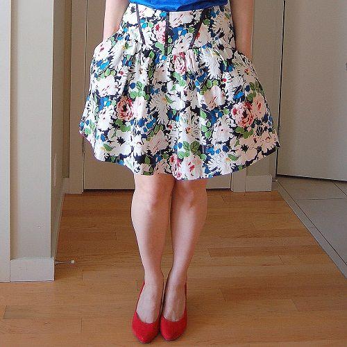 цветастая юбка фото