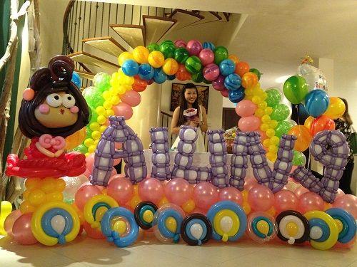 украшение для детского дня рождения из шаров фото