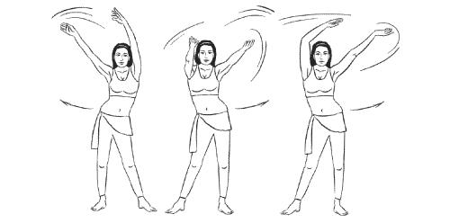 упражнение на махи руками фото