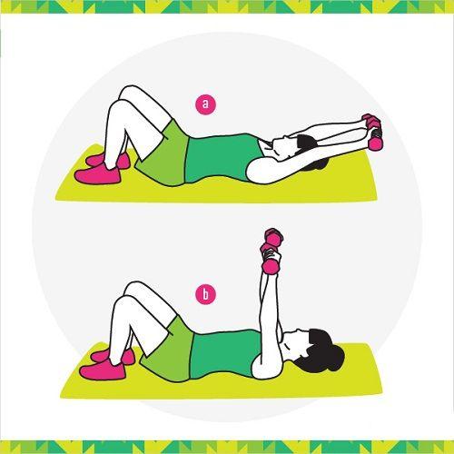 упражнения для спины с гантелями фото