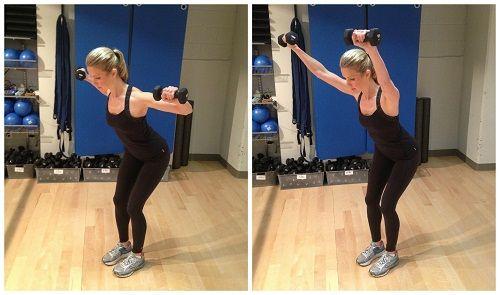 упражнения с гантелями для спины фото