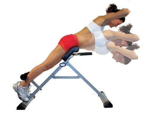 упражнение для спины на гиперэкстензии фото