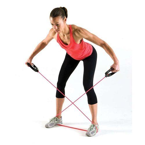 упражнение с эспандером для пресса фото
