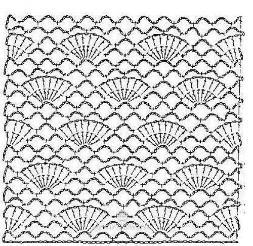 схема вязания платья фото