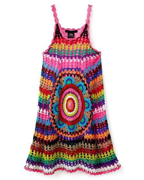красивое летнее вязаное платье фото
