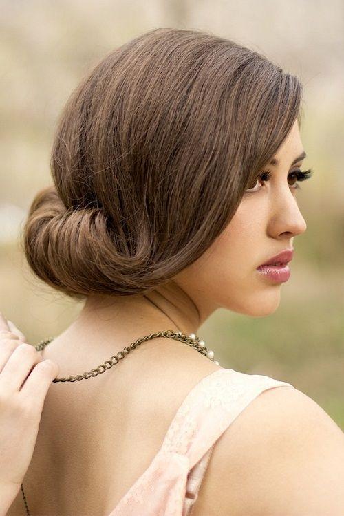 винтажная прическа на средние волосы фото