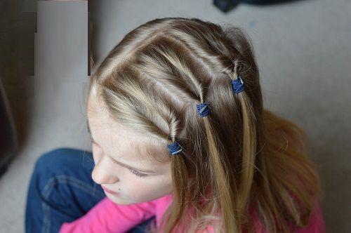 прическа с хвостиками для девочек фото