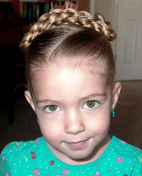 прическа с косичками для девочек фото