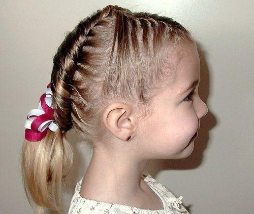 прическа с косами для девочек фото