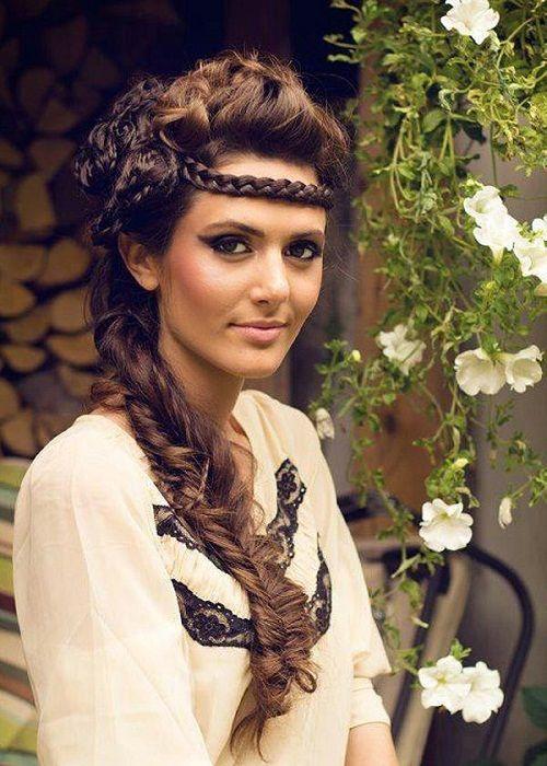 прическа с косой на свадьбу фото