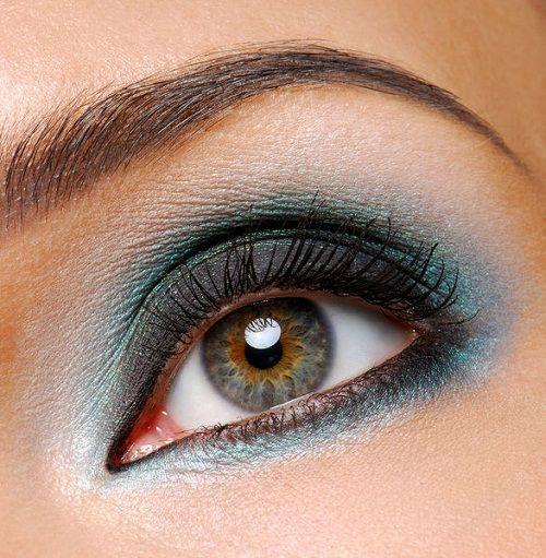 красивый смоки айс для зеленых глаз фото