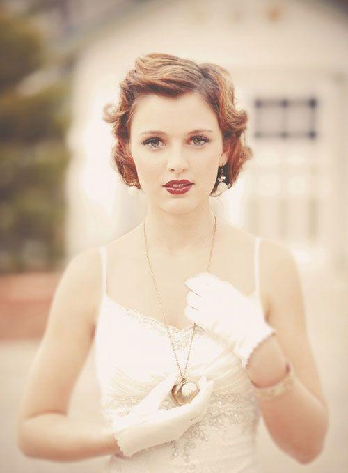 укладка свадебной прически на короткие волосы фото