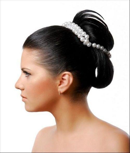 диадема с жемчугом для свадебной прически фото