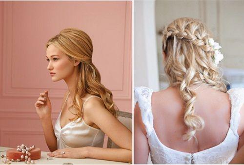 свадебная прическа с элементами кос фото