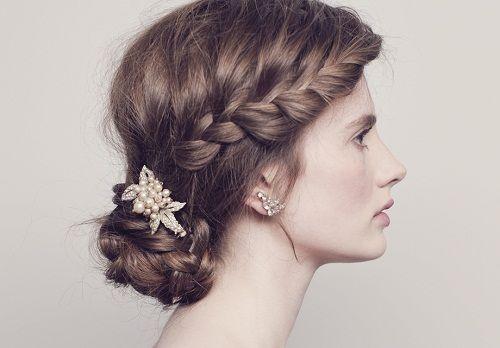 заплетенные в косу волосы фото