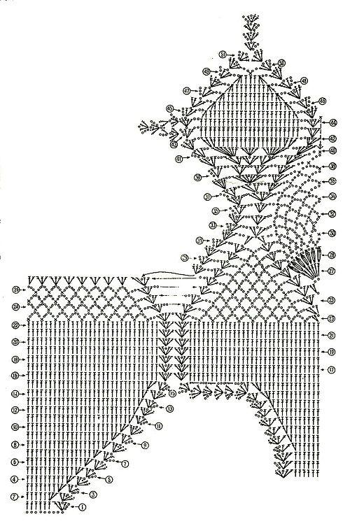схема вязания сдельного купальника фото