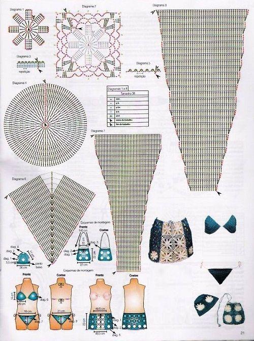 схема вязания раздельного купальника фото