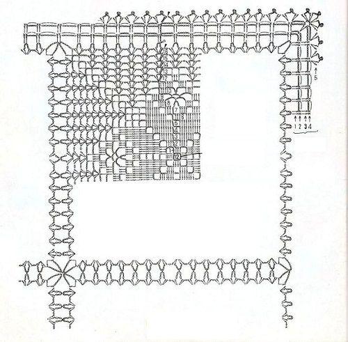 схема квадратной прихватки фото