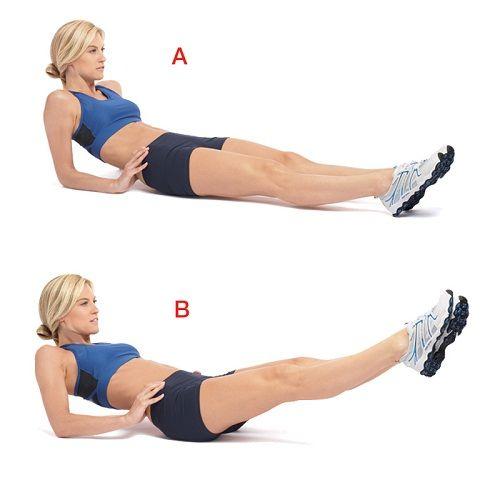 упражнение лежа для спины фото