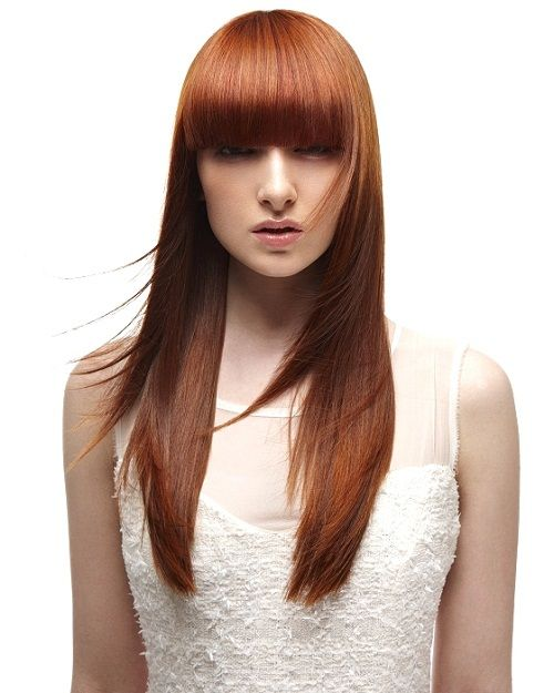 геометричная стрижка для длинных волос фото