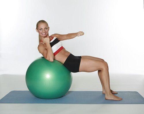 упражнения на фитболе фото