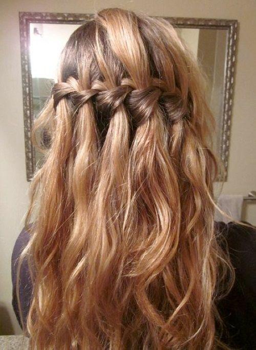 свободная коса на длинные волосы фото