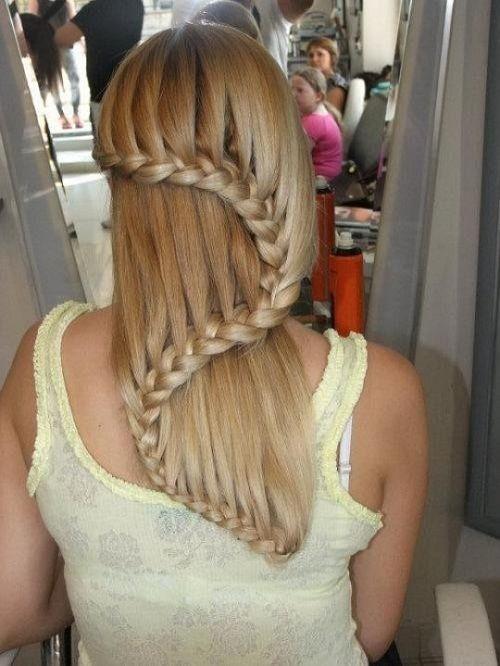 плетение кос на длинных волосах фото
