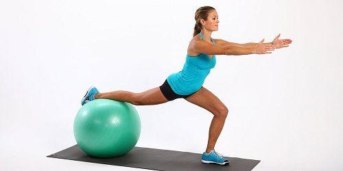 упражнения для ног на фитболе фото