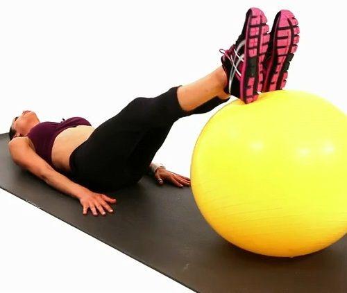 упражнения на подъем таза на фитболе фото
