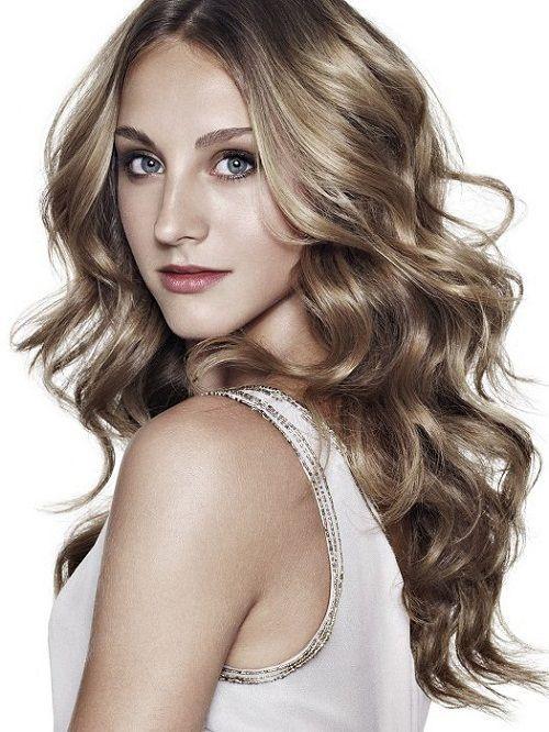 прическа волнами на кудрявые волосы фото