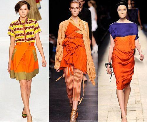с чем носить оранжевый цвет фото