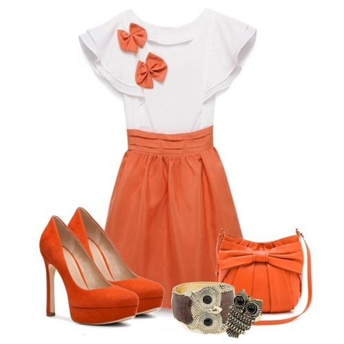 лук с оранжевым цветом фото