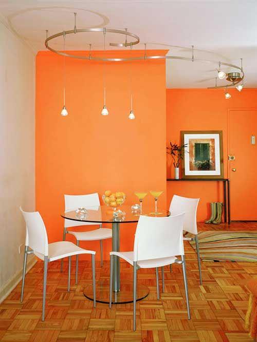 кухня в оранжевом цвете фото