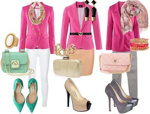с чем носить розовую одежду фото
