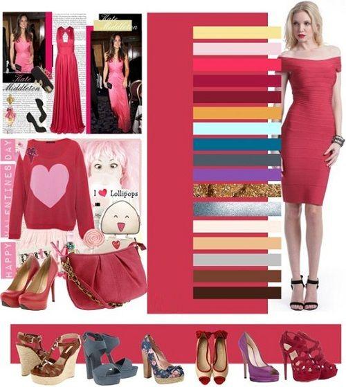 сочетание розового в одежде фото