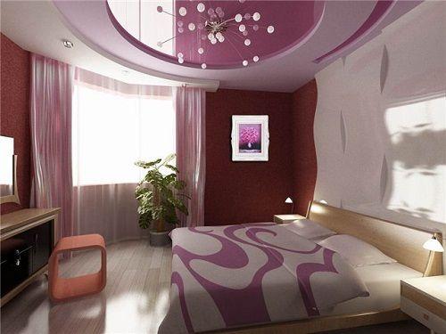 розовый в интерьере спальни фото