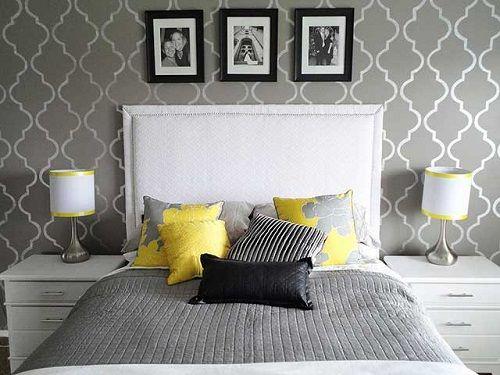 серый в интерьере спальни фото