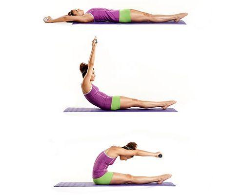 упражнение пилатес для спины фото