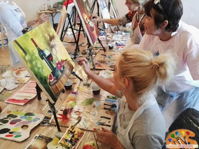 Уроки живописи в школе рисования Fantasy Room Киев