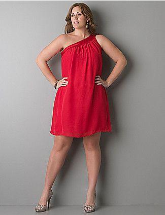 Красное стильное платье Фото