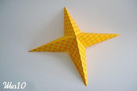 Звезда из бумаги готова фото