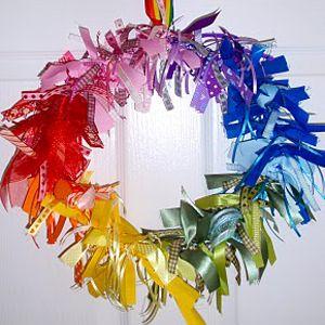 разноцветный венок фото