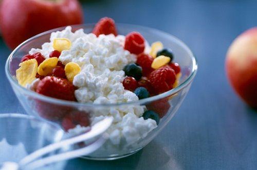 приготовление завтрака из творога фото